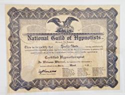 NGH 国際催眠協会認定証